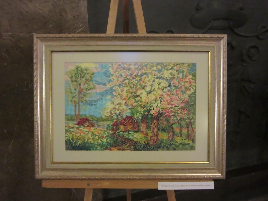 Stafos Pilipavičienės siuvinėtas paveikslas