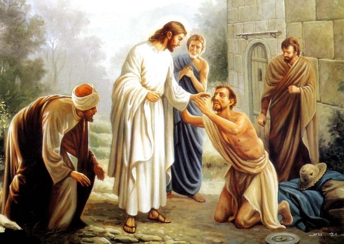 Jėzus gydo neregį