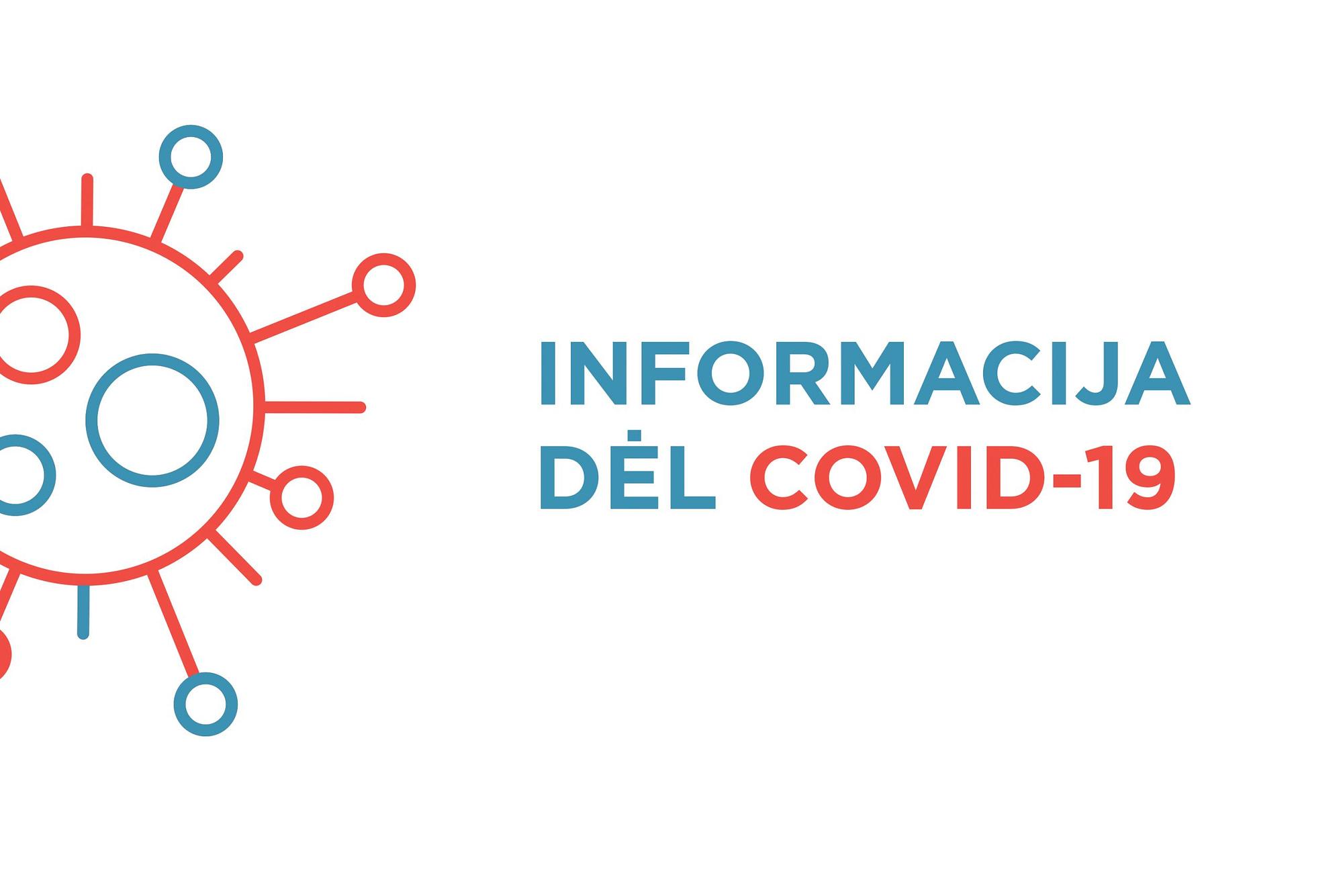 Iliustracija informacijai dėl COVID-19